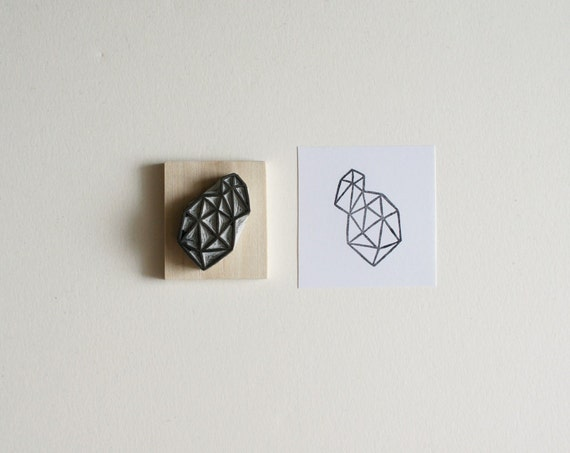 Crystal Configuration 27 - Hand Carved Stamp