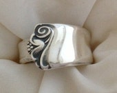 "Spoon Ring ""Bright Future"" 1954 Silverware Jewelry Vintage Silverplate Size 5 to 12 Choose Your Size"