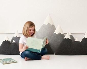 XL + XXL - Wool Mountain Pillow, floor pillows - made to order