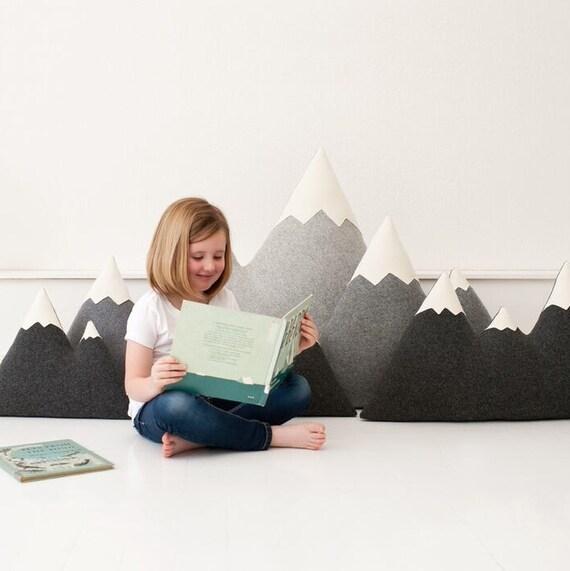 Xl Floor Pillows : XL XXL Wool Mountain Pillow floor pillows made to order