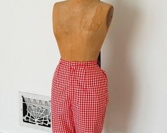 Vintage 1960s Shorts - 60s Gingham Shorts - The Elaine