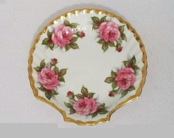 Andrea by Sadek Pink Rose Seashell Dish  (844-1)