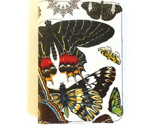 Personalized Leather Passport Case / Butterflies in Flight Leather Passport Cover - Personalised Name Initials / Travel Documents