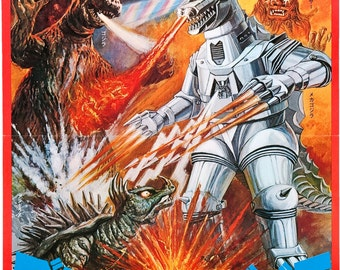 Godzilla Vs Mechagodzilla, Movie Poster,  Archival Quality Print
