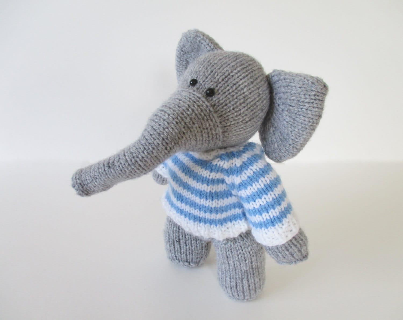 Wellington the elephant toy knitting pattern