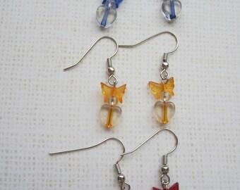 Set of Butterfly Earrings