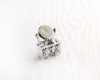 Vanity Table Mother of Pearl Sterling Silver Charm