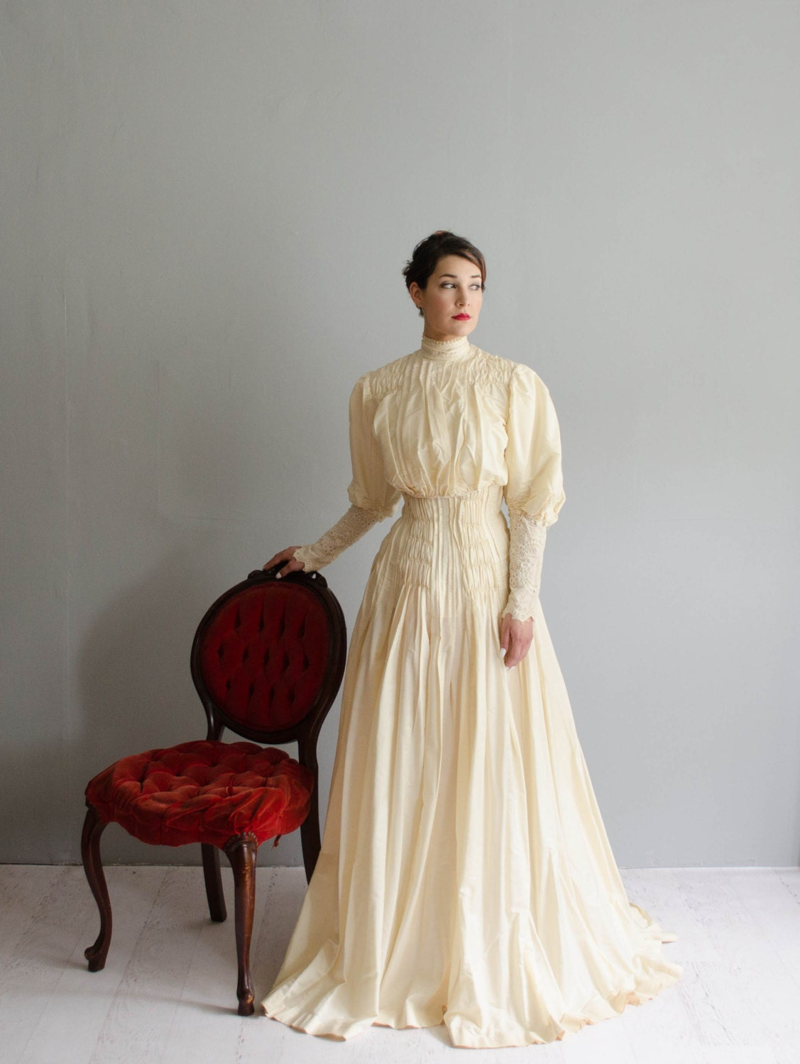 Early 1900s Wedding Gown Victorian Wedding Dress The