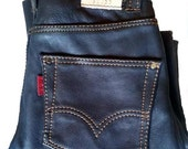 Levi Style Custom Leather Jeans, Leather Jeans, Leather Pants