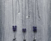Choose Necklace 1, 2 or 3, Rough Lapis & Sterling Silver Necklace