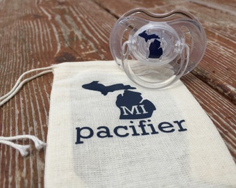 State Pacifier // Michigan // baby gifts // 6-18mth // Ready to Ship