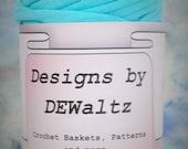 Ocean Blue Jersey Tee Shirt Trapillo Yarn from Designs by DEwaltz