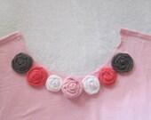 Trapillo Jersey Tee Shirt Yarn Rosettes, Recycled Tee Shirts, Tee Shirt Rosettes, Rosettes, Applique