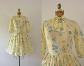 RESERVED | 1960s Sunshine Poppies summer day dress / 60s floral sweetheart