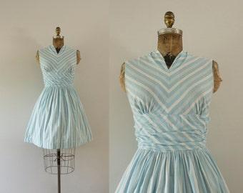 1960s Summer Breeze cotton striped mini dress / 60s striped beauty