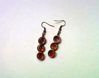 Pink, Orange and Fuschia Earrings (1810)