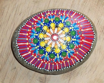 Colorful Mandala Stone