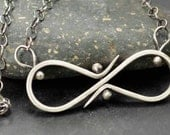Sterling Infinity Necklace, Sterling Silver Necklace, Metalsmith Jewelry