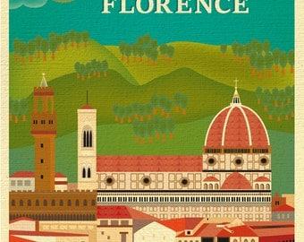Florence Skyline Print, Florence art, Firenze skyline, Firenze art, Italy Home Decor, Italy Print, Italian - style E8-O-FLO