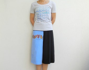 Womens Pants T-Shirt Yoga Pants Gaucho Culotte Pants Upcycled Recycled Tees M Drawstring Cotton Pants Ecofriendly Handmade Pants ohzie