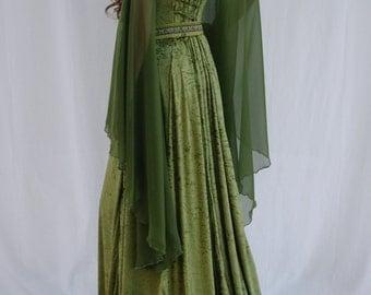 Elven dress, Celtic wedding dress, medieval dress, renaissance dress, forest, fairy dress, custom made
