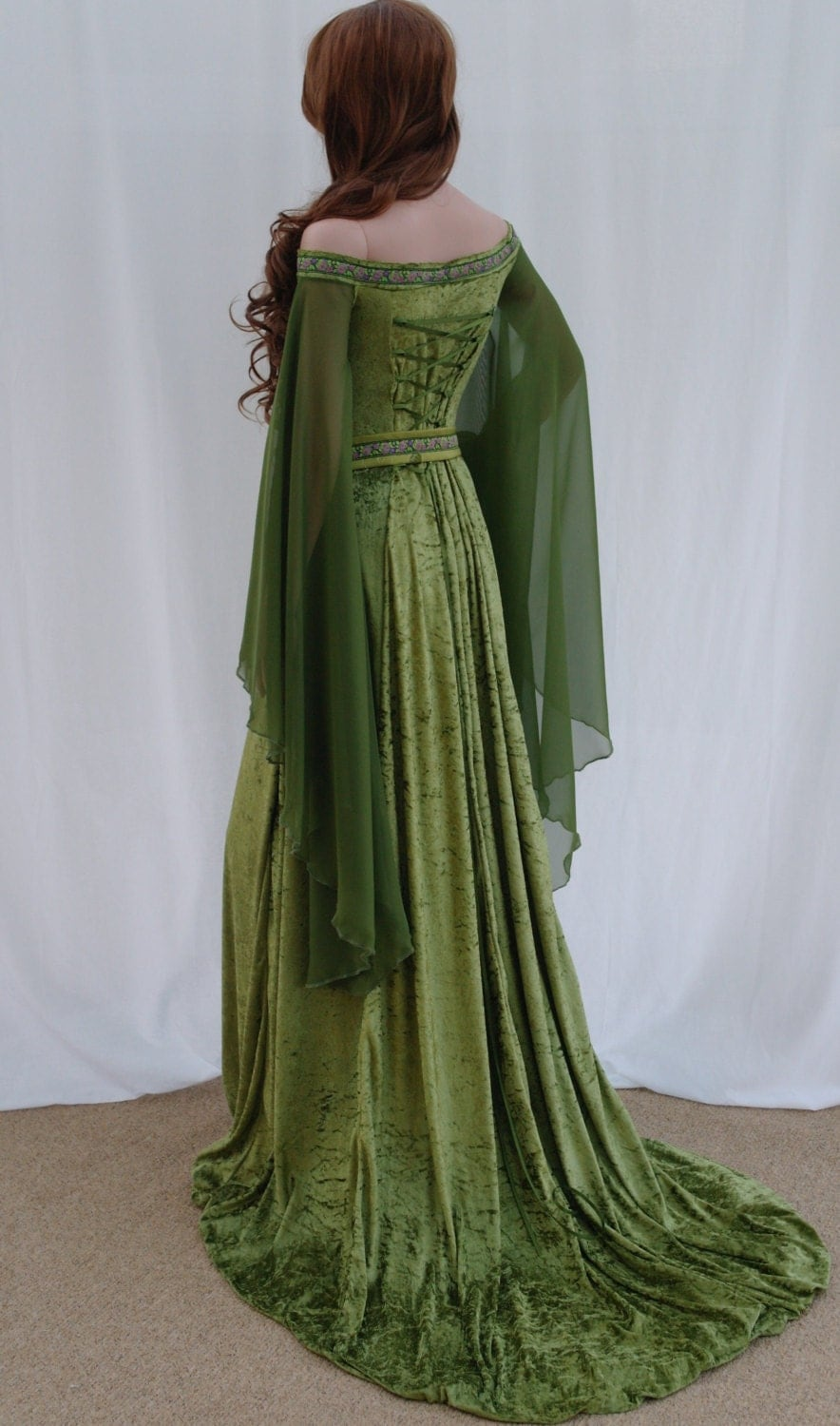 Modern Irish Wedding Dresses : Elven dress celtic wedding medieval by camelotcostumes