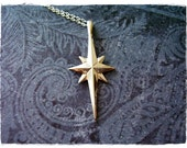 Silver Star of Bethlehem Necklace - Sterling Silver Star of Bethlehem Charm on a Delicate 18 Inch Sterling Silver Cable Chain