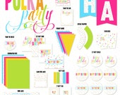 Polka Dot Party Printable (INSTANT DOWNLOAD) by Love The Day