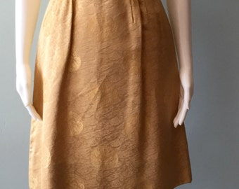 1950s Gold brocade dress and matching coat