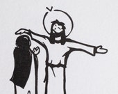 Letterpress - Believe - Jesus Heals