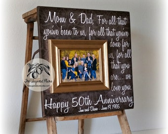 50th Anniversary Gifts, Golden Anniversary, For All That You Have Been, Anniversary Frame, 16x16 THE SUGARED PLUMS