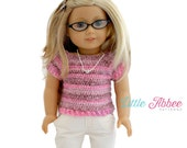 """Download Now - CROCHET PATTERN 18"""" Doll Classic Sweater PDF 103"""