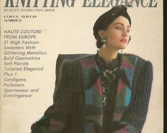 Knitting Elegance Magazine Issue 22 August 1986 Stunning Patterns for Ladies Knits