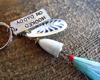 Custom Fishing Lure Keychain - Spinner with custom tag - By Rawkette