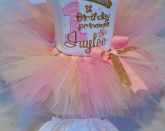 1st  Birthday Princess outfit with bling