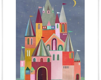 Fairytale Castle // Paper Art Print