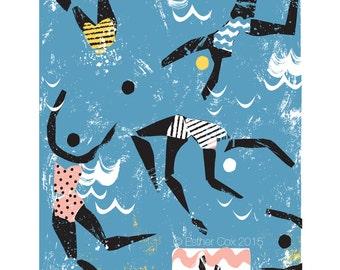 Sea Swimmers Print