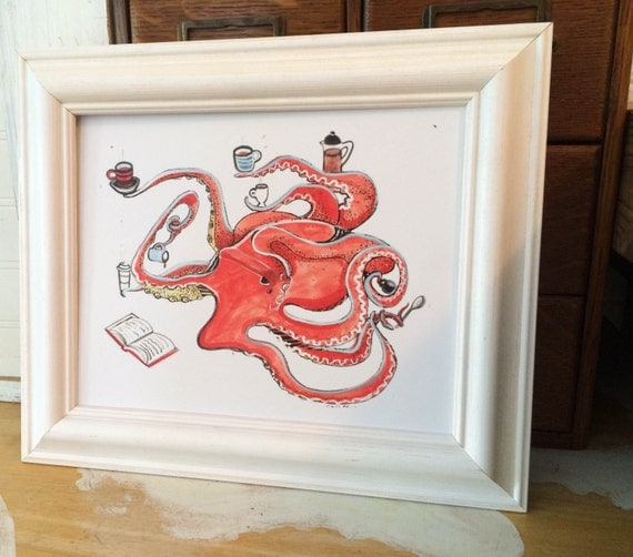 Framed Octopus Art Print