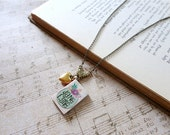 Jane Eyre themed book necklace, My Friend the Bookworm