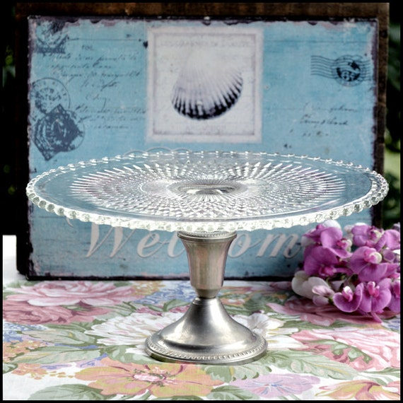 gatsby wedding cake stand vintage clear glass cake stand great gatsby wedding 14654
