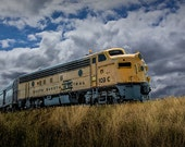 South Dakota Central Railroad Train at 1880 Town on the South Dakota Prairie No.159 Color Wall Decor Fine Art Landscape Photography