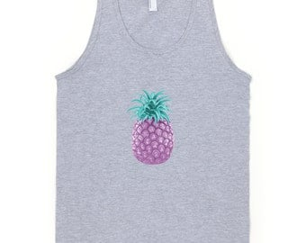 Pick Your Pineapple T-shirt Tank Top Fresh Colors Summer Fashion Beach Boho Hawaiian Style Vintage by Wave of Life