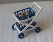 Vintage Ideal Doll House Grocery Cart Vintage Ideal Doll House Shopping Cart