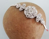 Art Deco Side Headband Vintage Style Bridal Hair Accessories