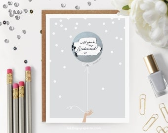 """6 Scratch-off """"Be My Bridesmaid"""" Cards // Ask Bridesmaids, Maid of Honor Card, Will You Be My Bridesmaid Proposal, Bridesmaid Box // Silver"""