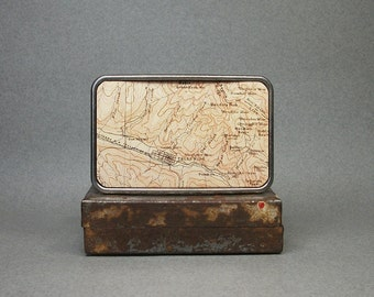 Belt Buckle Vintage Telluride Colorado Map Unique Gift for Men and Women
