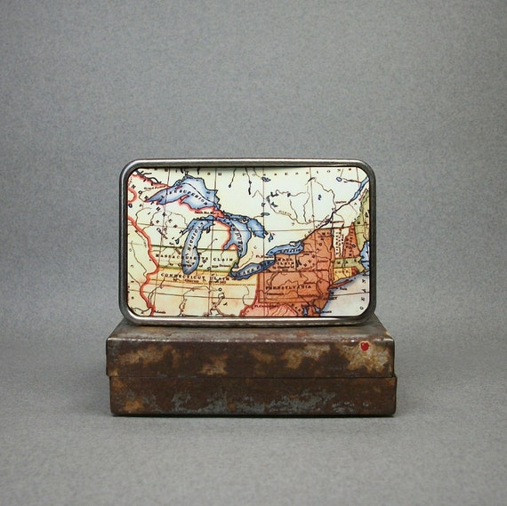 Belt Buckle Map Great Lakes Northwest Territory Unique Gift for Men or Women
