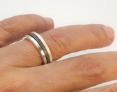 Sterling Thin Band Unisex Stackable Rings, Square Wire Geometric Rings, Stacking Ring Set, Stackable Bands, Mix & Match Stacking Jewelry