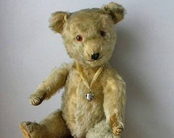 Chiltern Bear - Large 1930's Chiltern - Vintage Mohair Chiltern Bear - Old Toy Bear