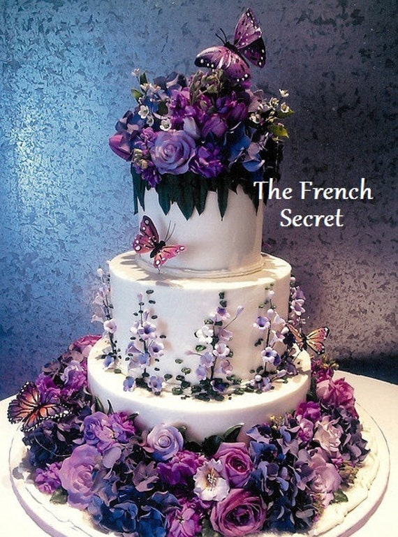 Butterfly Cake Topper Purple Wedding decoration Floral